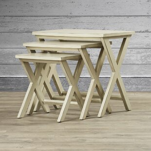Affordable Price Edgecomb 3 Piece Nesting Tables By Loon Peak