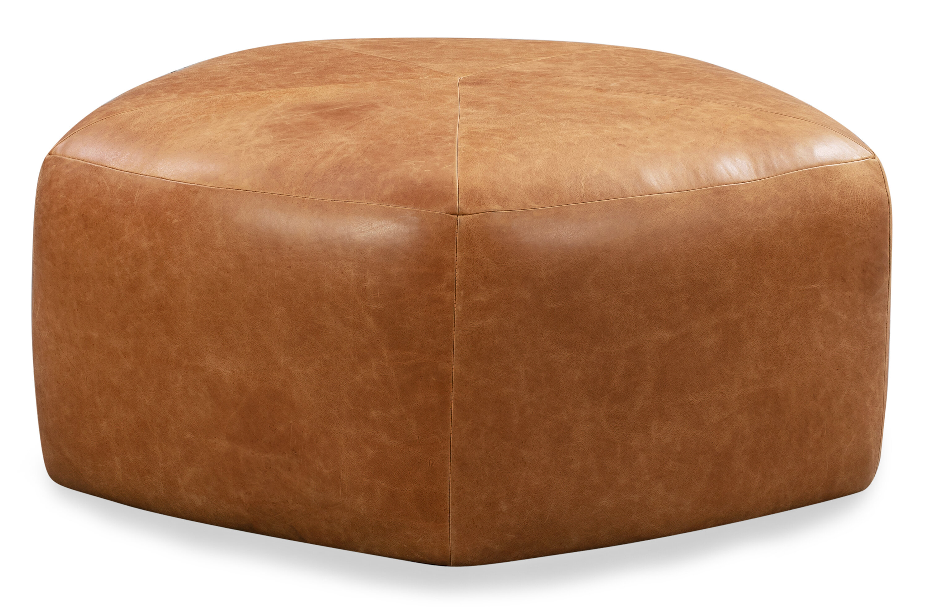 17 Stories Rowley Leather Pouf Reviews Wayfair
