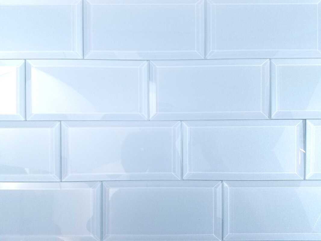 Frosted Elegance 3 X 6 Gl Subway Tile In Glossy Blue Reviews