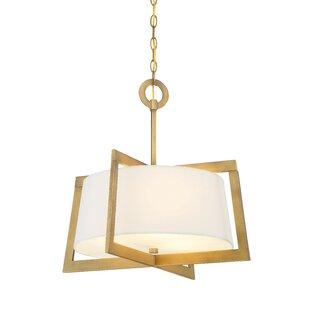 Taraji 2-Light Square/Rectangle Pendant By Mercer41 Ceiling Lights