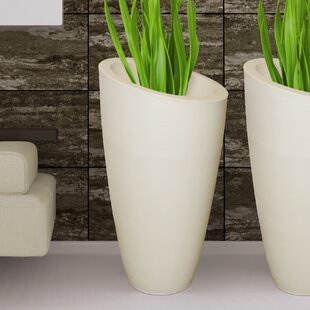 White Planter Pots You'll | Wayfair on large plant pots for trees, large potted plants, natural spring decorative plant containers, large outdoor glazed pots,