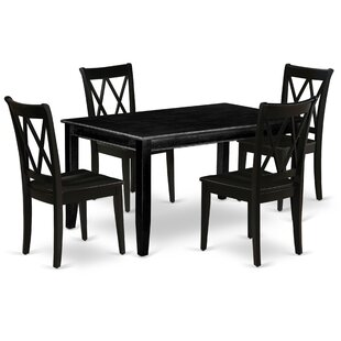 Kolling 5 Piece Solid Wood Dining Set