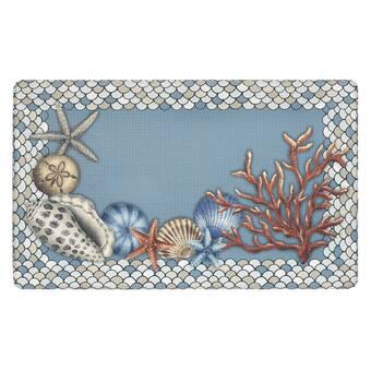 Highland Dunes Salsbury Tide Pool Shells Anti Fatigue Mat Reviews Wayfair