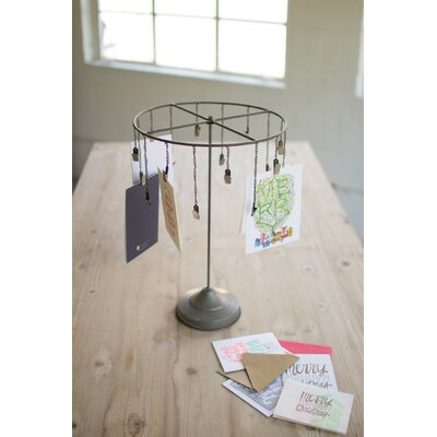 Hanging Christmas Card Holder Raw Metal