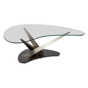 Elite Modern Crystal Boomerang Coffee Table