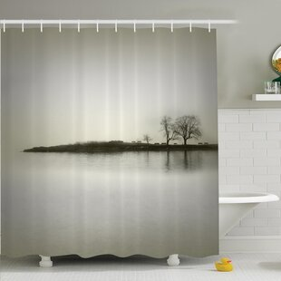 Nature Fall Trees on Island Shower Curtain Set