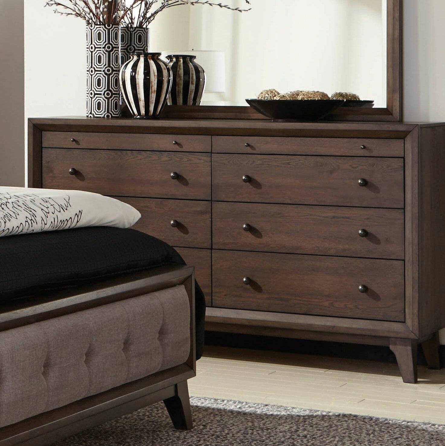 Gracie Oaks Anderson 8 Drawer Double Dresser Wayfair Ca