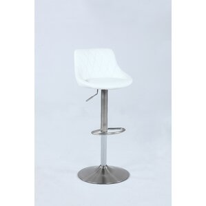 Florio Pneumatic Adjustable Height Swivel Bar Stool by Ivy Bronx