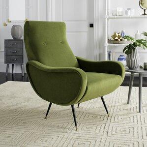 Landgrove Velvet Retro Mid Century Accent Arm Chair