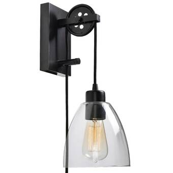Cyrus 1 Light Plug In Armed Sconce
