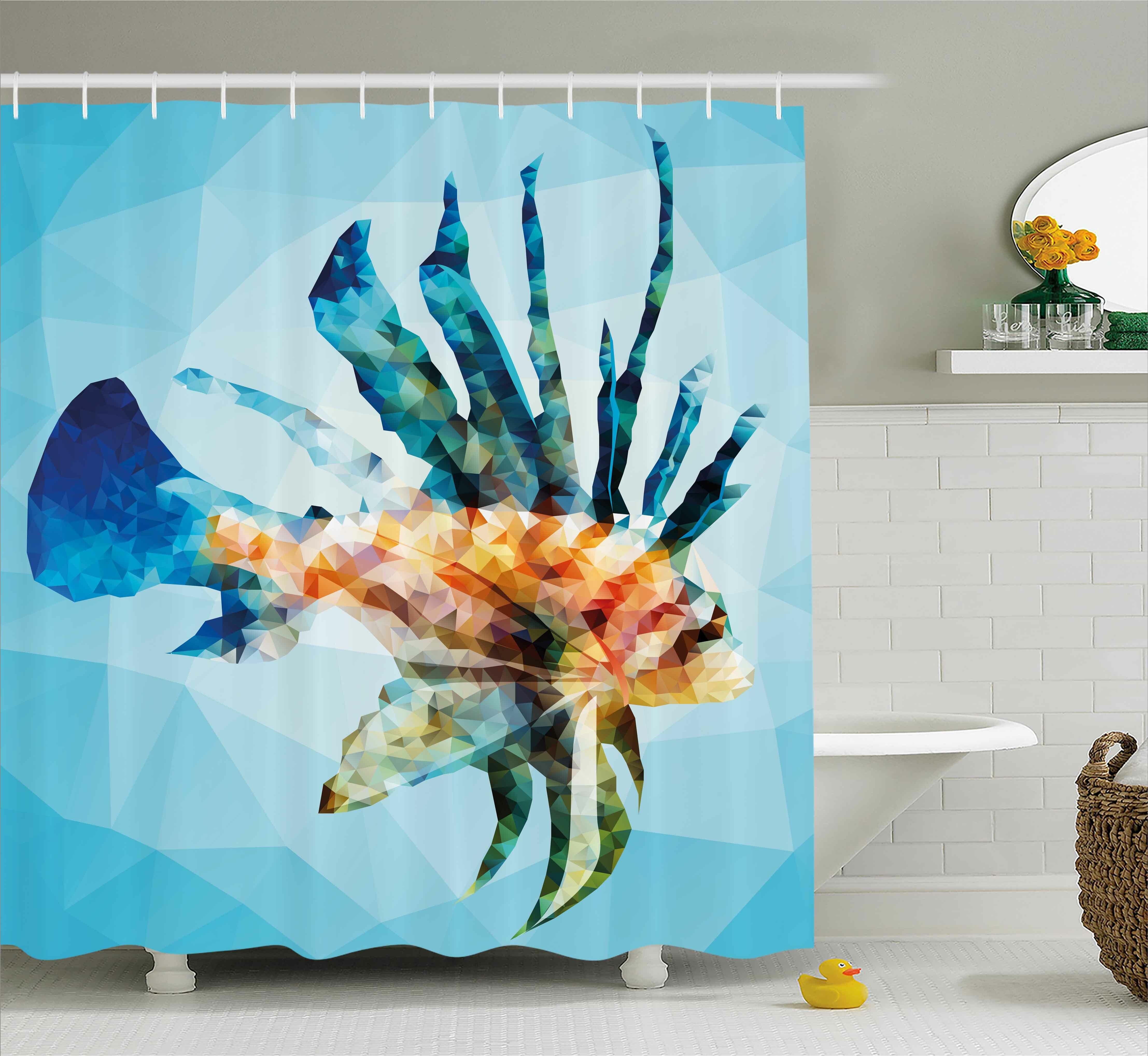 Highland Dunes Ladonna Underwater Theme Ornamental Fish Single Shower  Curtain   Wayfair