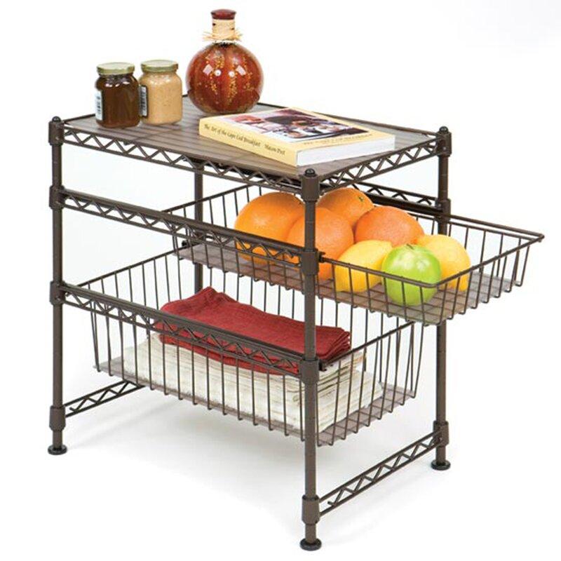 Wayfair Basics Stackable Kitchen Cabinet Organizer