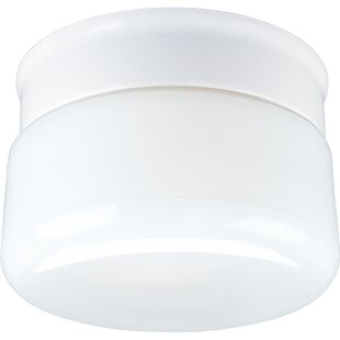 Bourne White Glass Snap-in Flush Mount by..