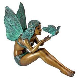 Design Toscano Bird Fairy Cast Garden Statue
