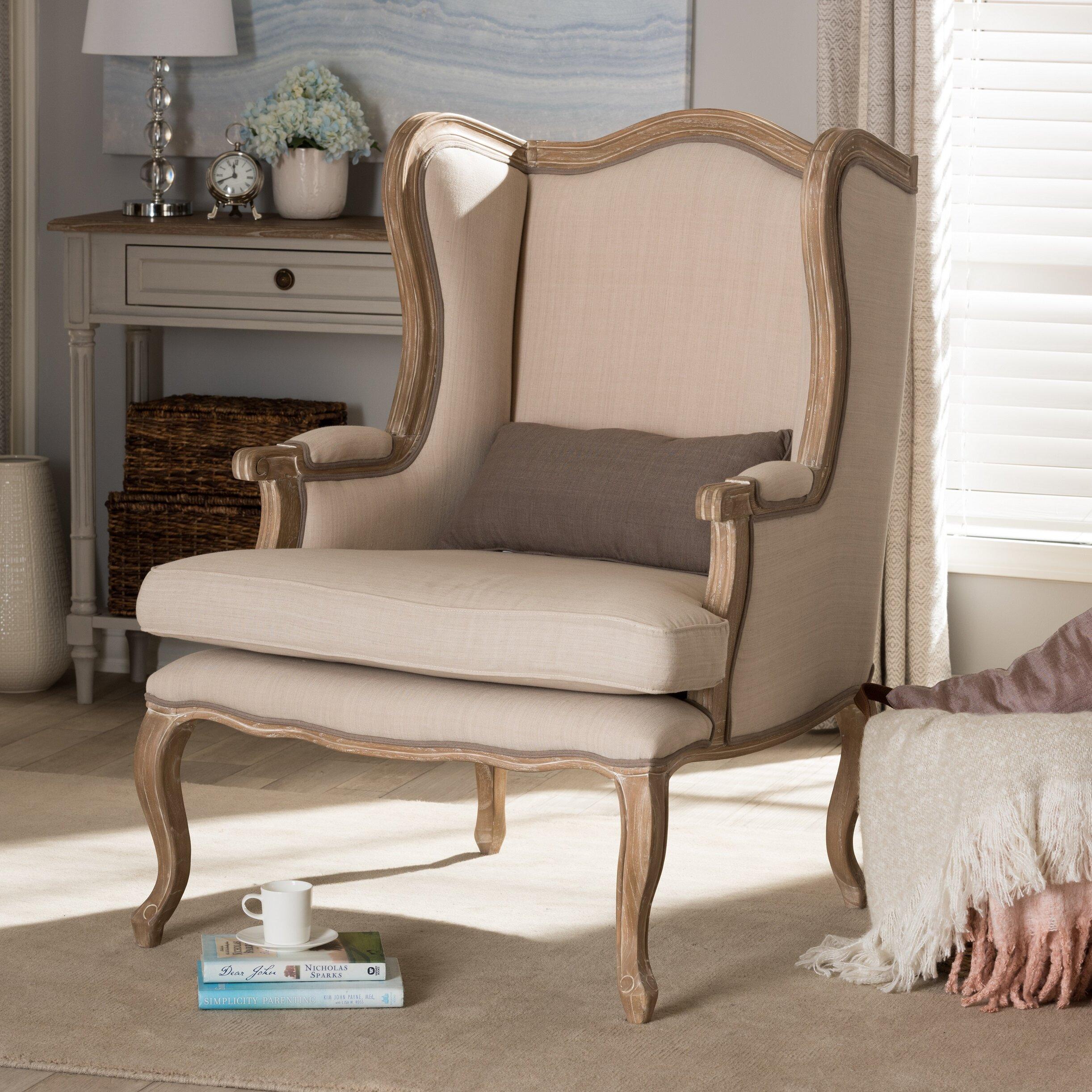 Whole Interiors Baxton Studio Auvergne Wingback Chair