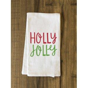 Holly Jolly Fun Tea Towel