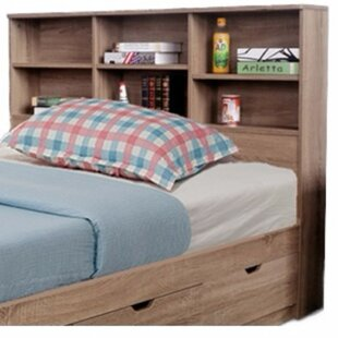 Andrews Elegant Bookcase Headboard With 6 Shelves