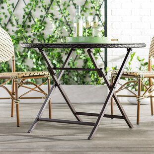 Belton Outdoor Folding Wicker Dining Table