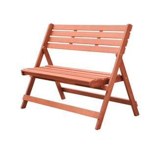 Longshore Tides Casto Wooden Garden Bench