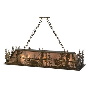 Moose at Dusk 12-Light Pool Table Lights Pendant by Meyda Tiffany
