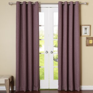 Zuma Linen Solid Semi-Sheer Thermal Grommet Curtain Panel (Set of 2)