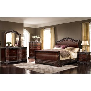 Muni Queen Sleigh 4 Piece Bedroom Set