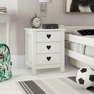 Nachttisch Macaulay mit 3 Schubladen | Schlafzimmer > Nachttische | Mdf | Harriet Bee