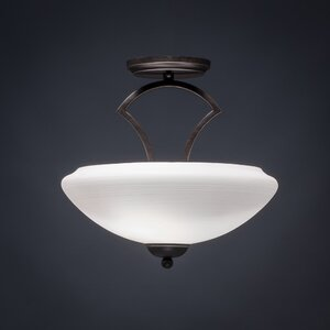 Zilo 2-Light Semi Flush Mount