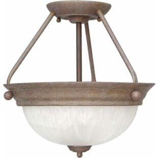 Emington 2-Light Semi Flush Mount by Three Posts