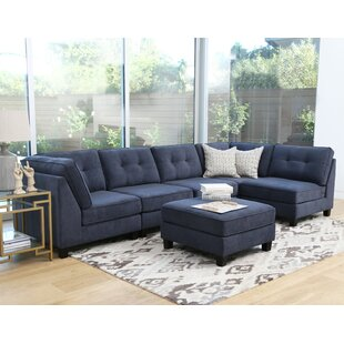 Lonon Reversible Modular Sectional with Ottoman