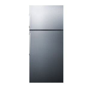 Summit Thin Line 12.6 cu. ft. Counter Depth Top Freezer Refrigerator with LED Lighting and Icemaker by Summit Appliance