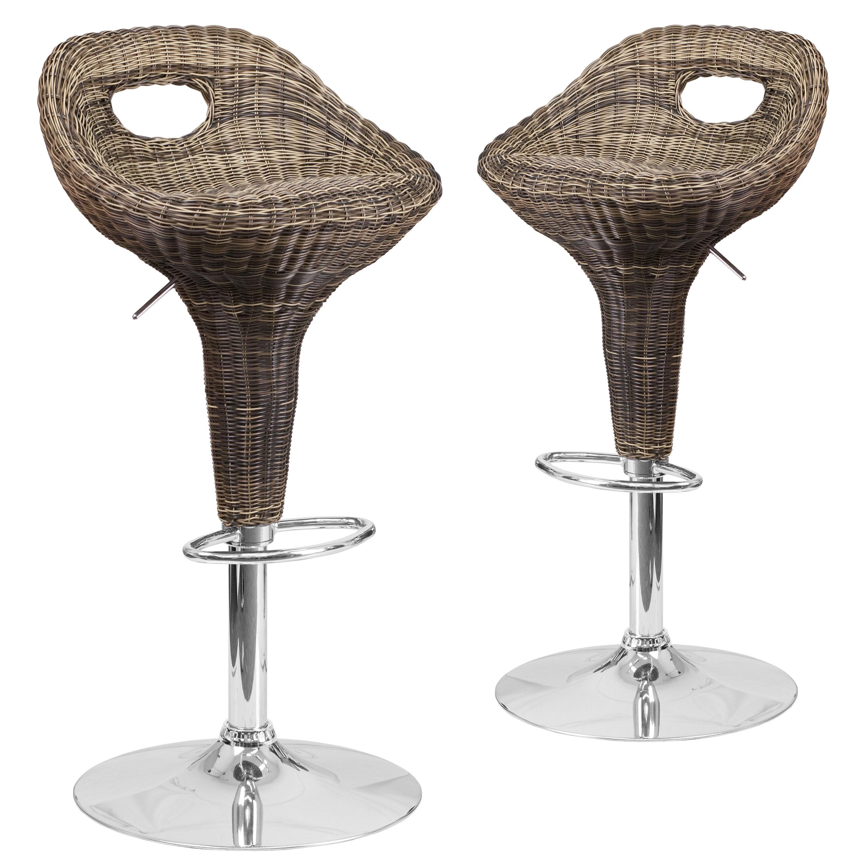Swell Jackeline Adjustable Height Swivel Bar Stool Andrewgaddart Wooden Chair Designs For Living Room Andrewgaddartcom