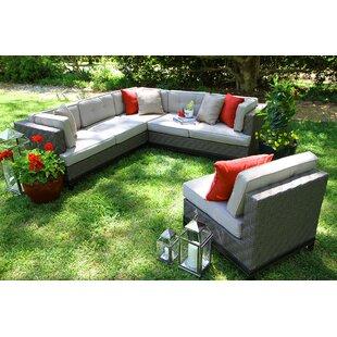 Brayden Studio Jamarion 4 Piece Sectional with Cushions