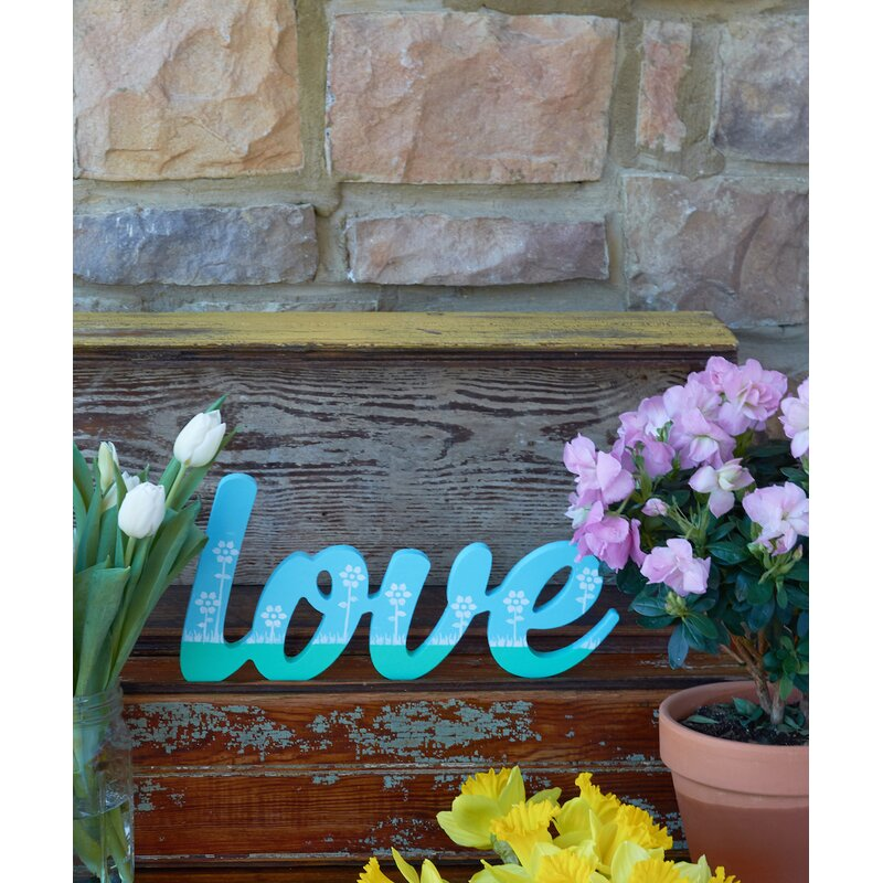 Viv Rae Elvira Scroll Love Decorative Plaque Reviews Wayfair