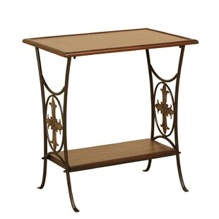 Fleur De Lis Living Boerner End Table with Removable Tray