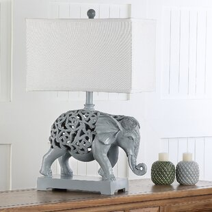 Baillargeon Hathi Sculpture 25.5 Table Lamp (Set Of 2) by World Menagerie Spacial Price