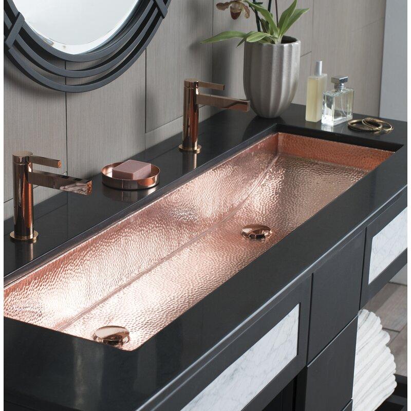 """Native Trails Trough Metal 48"""" Trough Bathroom Sink   Wayfair"""