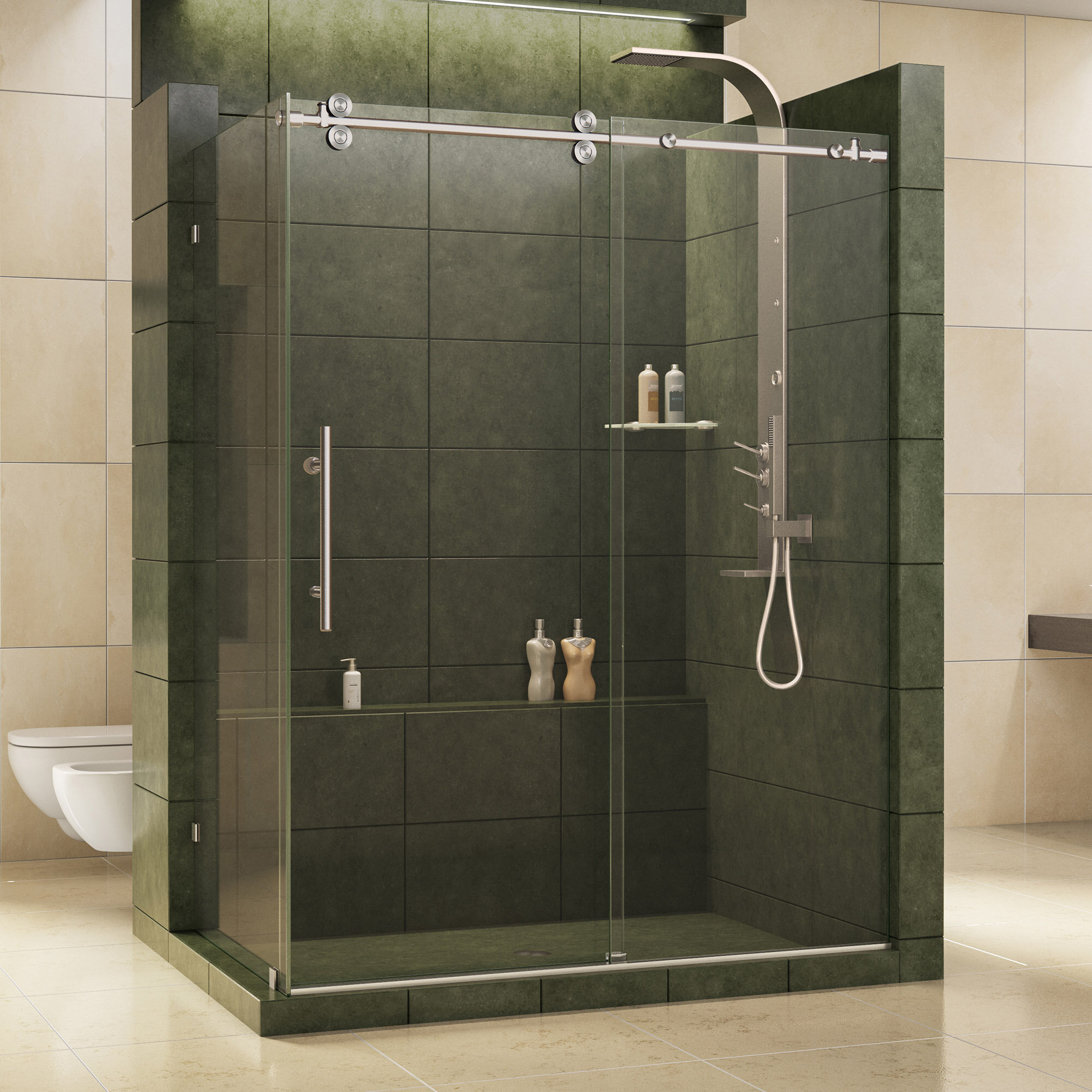 Dreamline Enigma 605 X 79 Single Sliding Frameless Shower Door