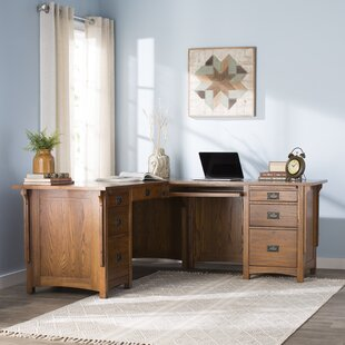 Limon Solid Wood L-Shape Executive Desk by Birch Lane™ Heritage