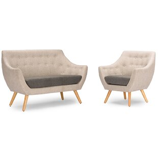 Read Reviews Eli 2 Piece Living Room Set by George Oliver Reviews (2019) & Buyer's Guide