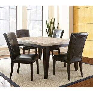 Trever 5 Piece Solid Wood Dining Set