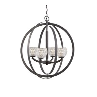 Heavner 4-Light Globe Chandelier by Ebern Designs