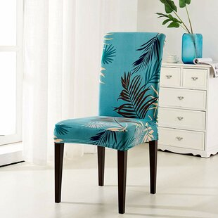 Printed Leaf Dining Chair Slipcover (Set of 2) by Bayou Breeze