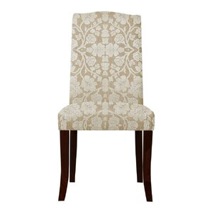 Lasseter White Floral Parsons Chair (Set of 2) by Red Barrel Studio