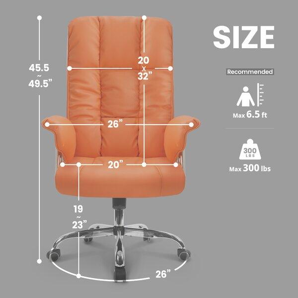 Neo Chair Soliz Faux Leather Polyurethane Executive Chair Reviews Wayfair