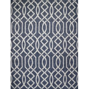 Shuman Navy Indoor/Outdoor Area Rug