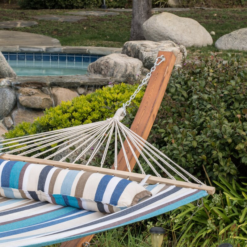 Medium image of kouklia canvas hammock with stand