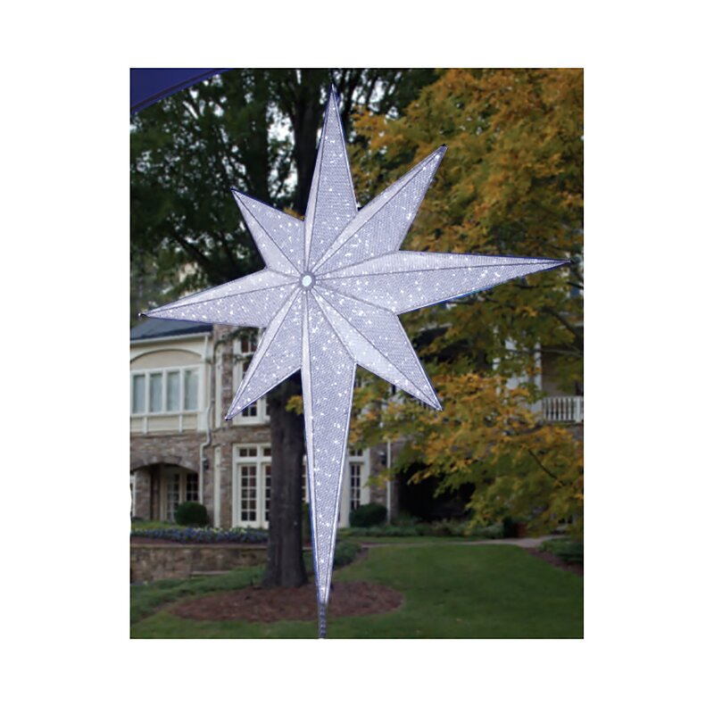 led lighted moravian star commercial christmas tree topper - Lighted Star Christmas Tree Topper