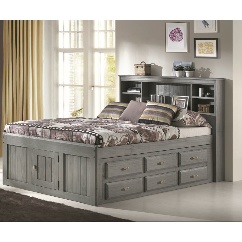 Birch Lane™ Ercole Full Panel Bed with 6 Drawers & Reviews | Wayfair