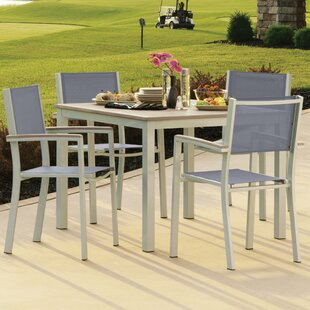 Caspian 5 Piece Dining Set with Sling Back Chairs